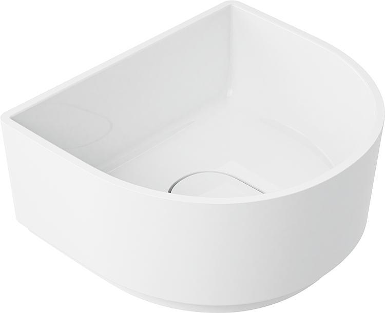 Aufsatz-Waschtisch Pelotas aus Mineralguss,BxHxT:420x190x370mm