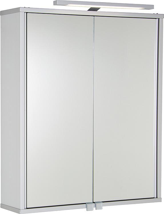Aluminiumspiegelschrank ELKEA mit LED-Beleuchtung, 2 Türen 600x700x150mm