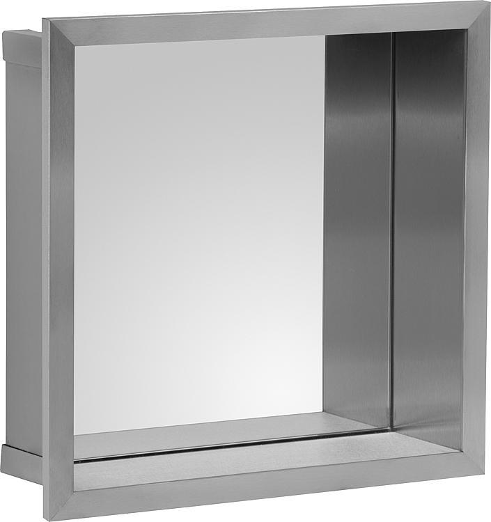 Wandnische mit Spiegelrückwand Tiefe 100mm, BxH:325x325mm