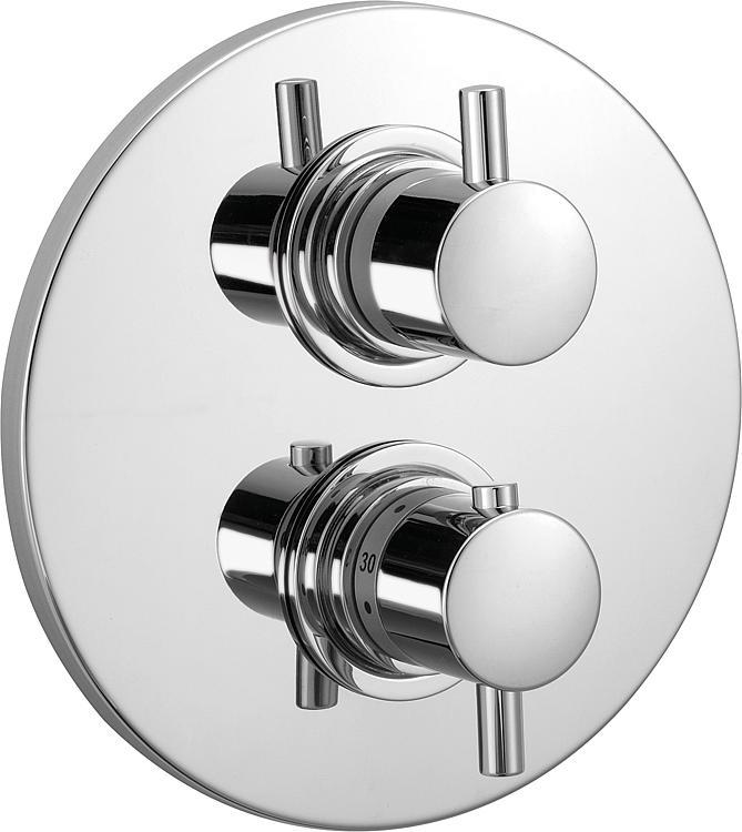 UP-Fertigmontage-Set für Thermostat, 1 Verbraucher, Serie Kos, verchromt