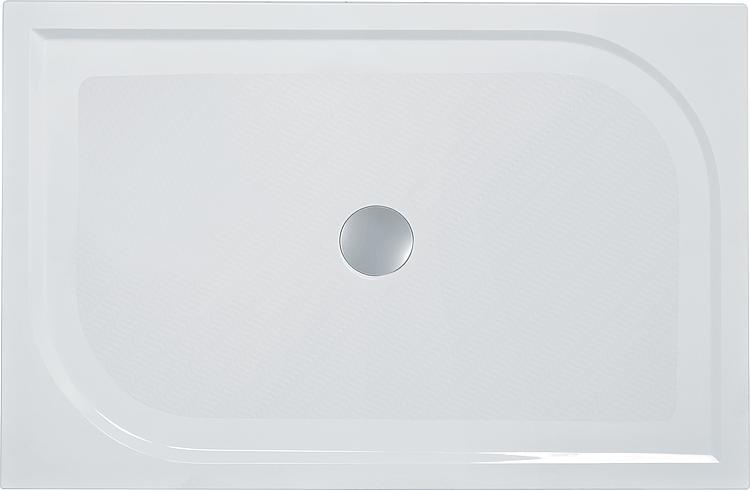 Duschwanne Ebby, aus Mineralguss BxHxT:1400x38x900mm, inkl. Montagefüsse und Antislip