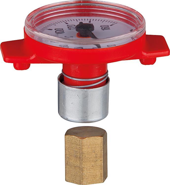 """Thermometer für Solar T-Pumpen- kugelhahn,passend zu 11/4""""xDN25 Flansch"""