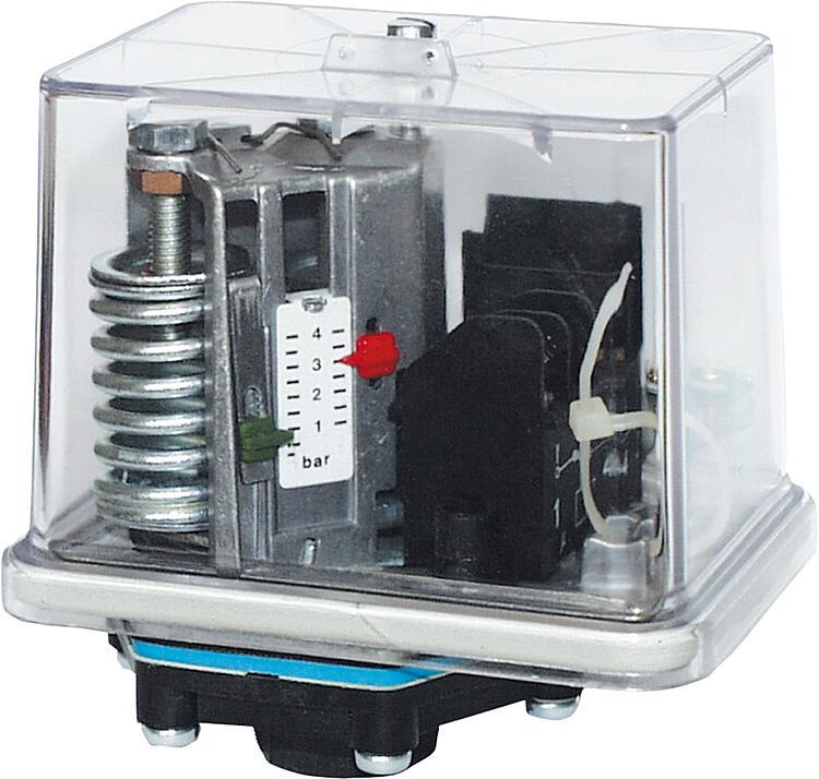 Druckschalter mit Perbunan-Membrane für Öl, Wasser u. Luft Typ FF4-4DAH / max.Betriebsdruck 24 bar