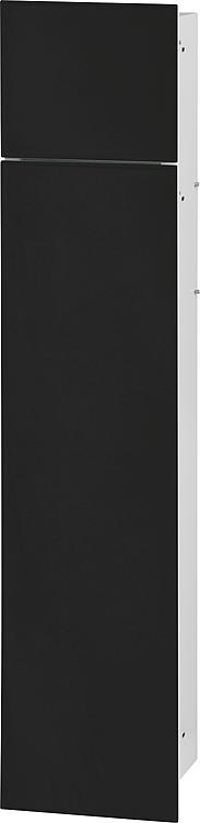 WC-Wandcontainer,innen weiss 2 schwarzen Glastüren, 1 Leerfach BxH:180x825mm, Anschlag rechts
