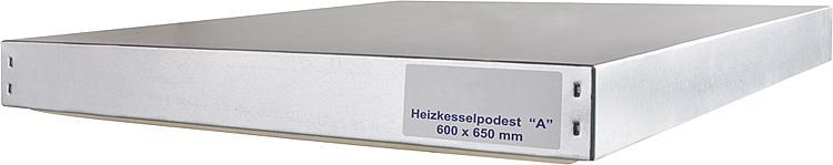 Heizkesselpodest Grösse -A- 600 x 650 x 70 mm