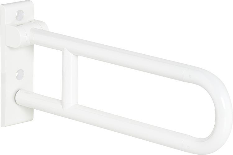 Hewi Stützklappgriff Serie 801 reinweiss, Stahlkern, Länge: 600mm