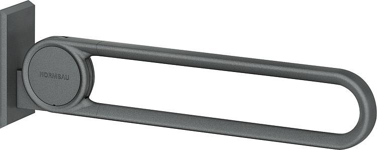 Normbau Stützklappgriff Cavere Vario,850mm, Anthrazit-Metallic