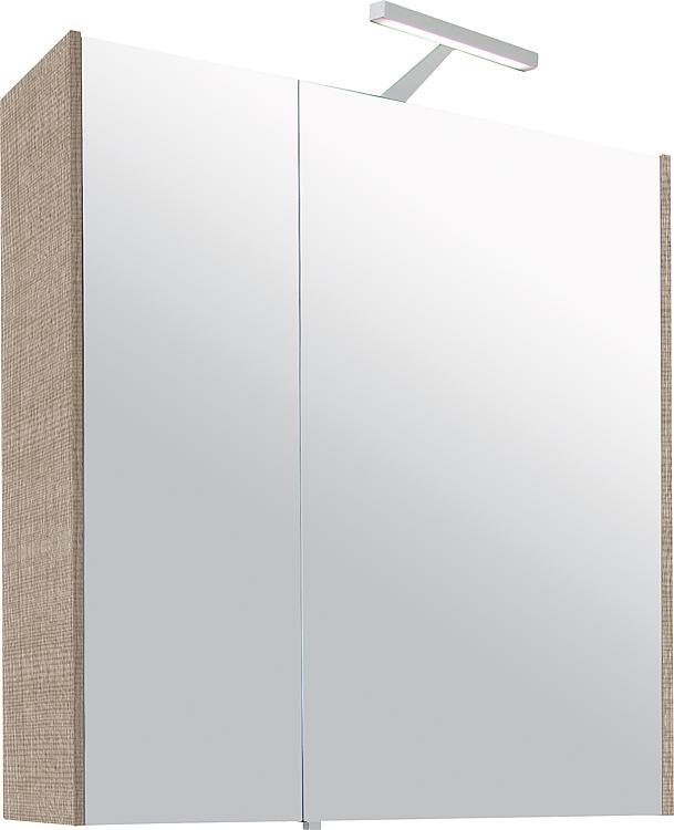 Spiegelschrank mit Beleuchtung Tranche ecru 2 Türen 700x750x188mm