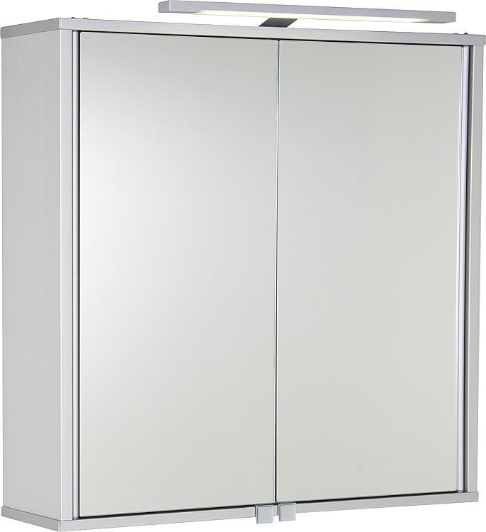 Aluminiumspiegelschrank ELKEA mit LED-Beleuchtung, 2 Türen 800x700x150mm