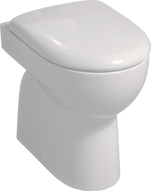 Stand-Tiefspül-WC Geberit Renova weiss, Abgang innen BxHxT: 355x410x510mm