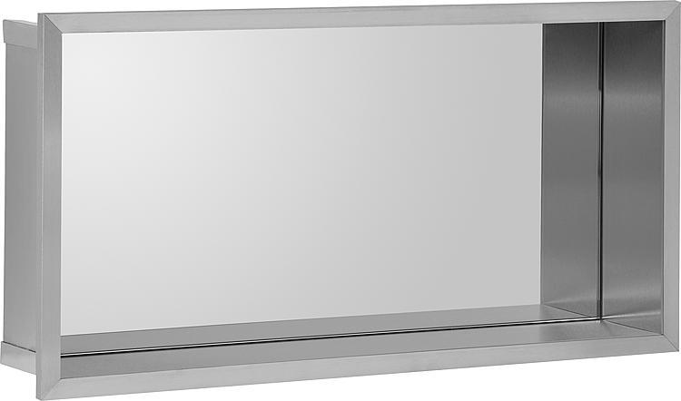 Wandnische mit Spiegelrückwand Tiefe 100mm, BxH:625x325mm