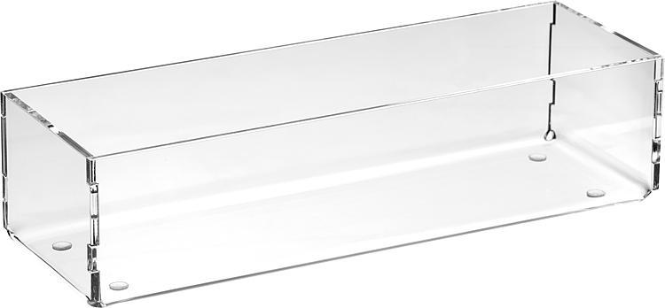 Sortierboxen aus Plexiglas transparent 240x50x80mm