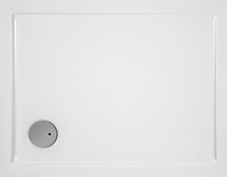 Brausewanne EVREN rechteckig, aus Acryl,1000x800x55mm, Ablaufloch 90mm