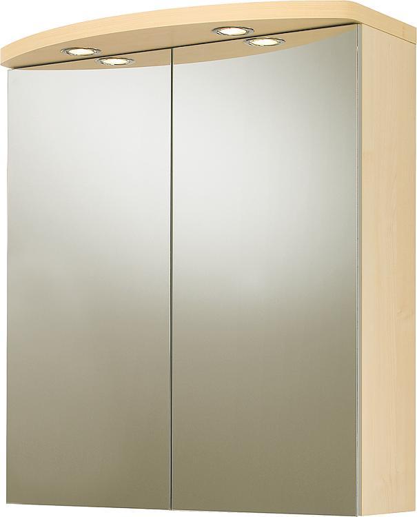 Spiegelschrank mit Beleuchtung Birne Dekor 2 Türen 700x798x205/340