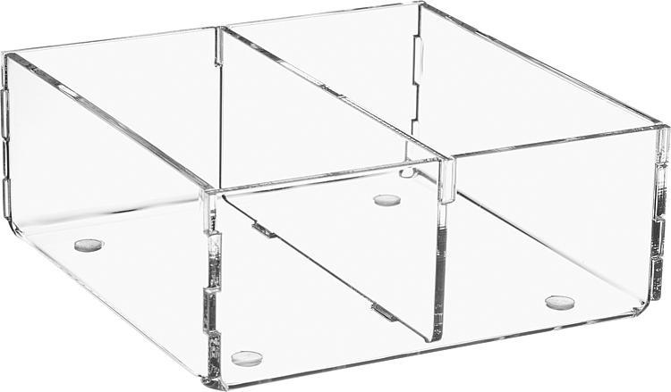 Sortierbox aus Plexiglas transparent 120x120x50mm