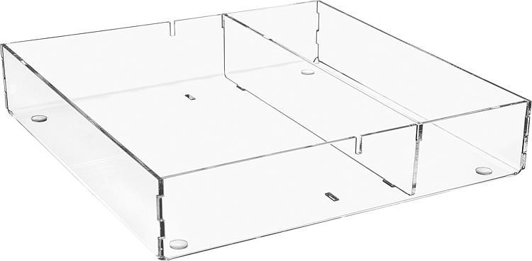 Sortierbox aus Plexiglas transparent 240x240x50mm