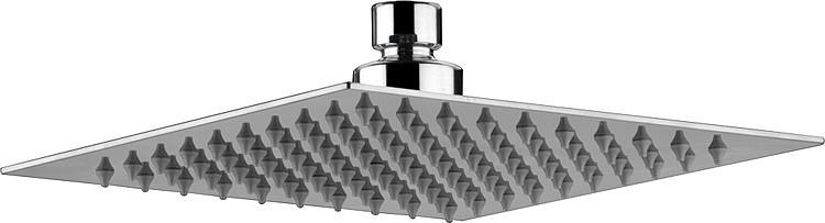 "Kopfbrause Square, DN15 (1/2"") 1-Strahl, Edelstahl poliert, 200x200mm"