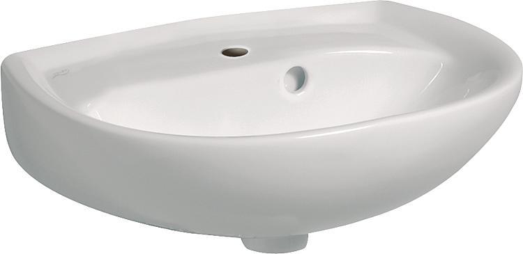 Handwaschbecken Geberit Renova weiss BxHxT: 450x125x340mm
