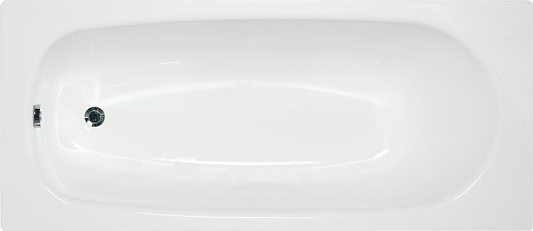 Badewanne VERONA BxHxT:1600x395x700mm Stahl-Emaille