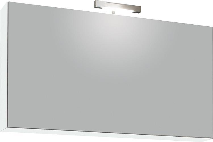 Spiegelschrank mit Beleuchtung Weiss Hochglanz 1 Klapptür 950x500x188mm