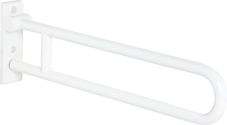 Hewi Stützklappgriff Serie 801 reinweiss, Stahlkern, Länge: 850mm