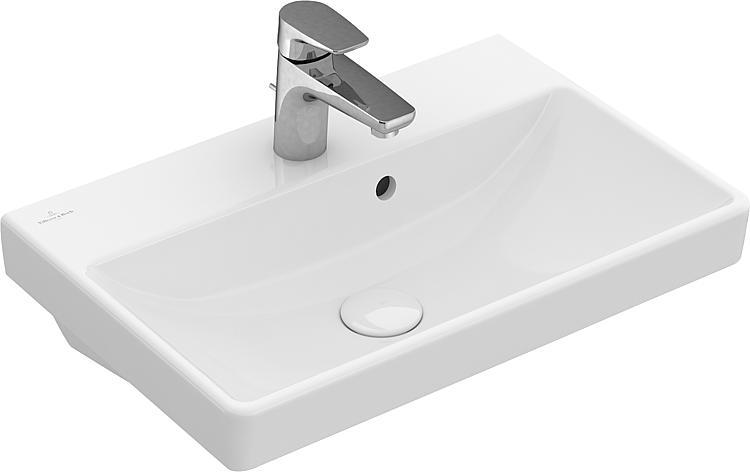 Handwaschbecken V&B Avento 550x370x155, mit Überlauf, weiss