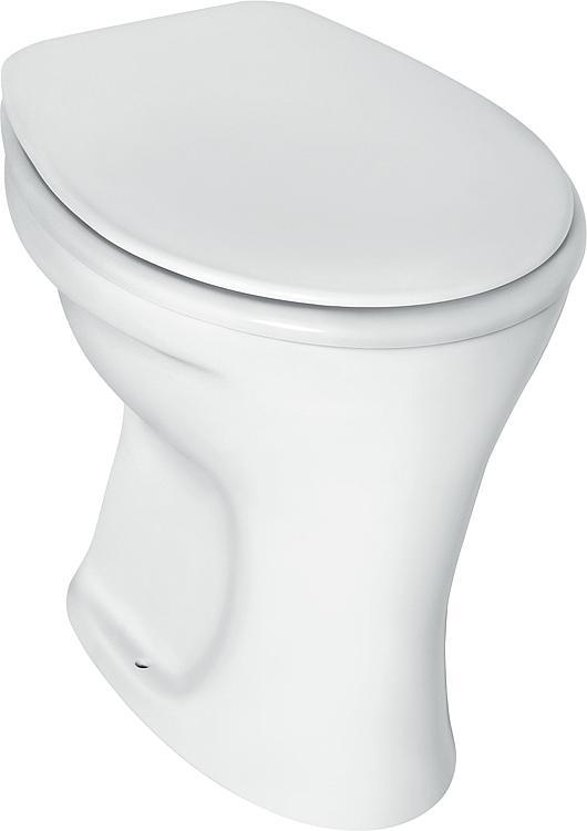 Eurovit Standflachspül-WC (Abgang aussen waagerecht) BxTxH= 355x475x390 mm