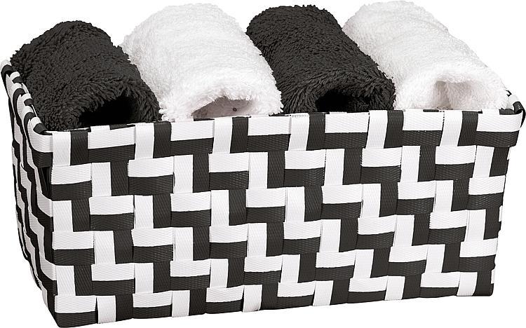 4 Gästetücher 300x300mm 2x Weiss,2x Schwarz, 100% Baumwolle