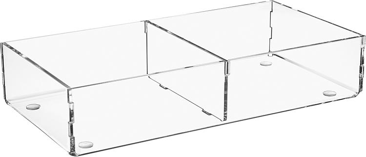 Sortierbox aus Plexiglas transparent 240x120x50mm