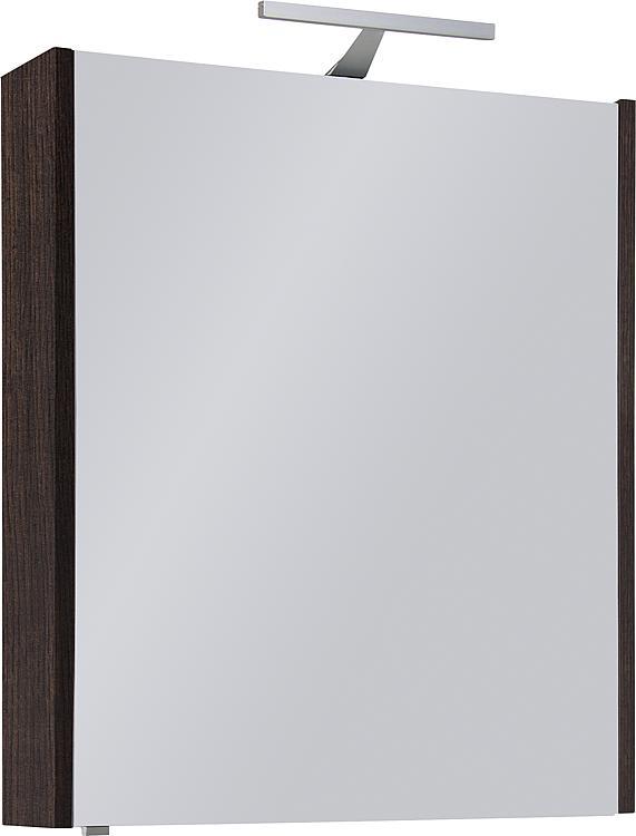 Spiegelschrank mit Beleuchtung Eiche dunkel Dekor 1 Türe 600x750x188mm