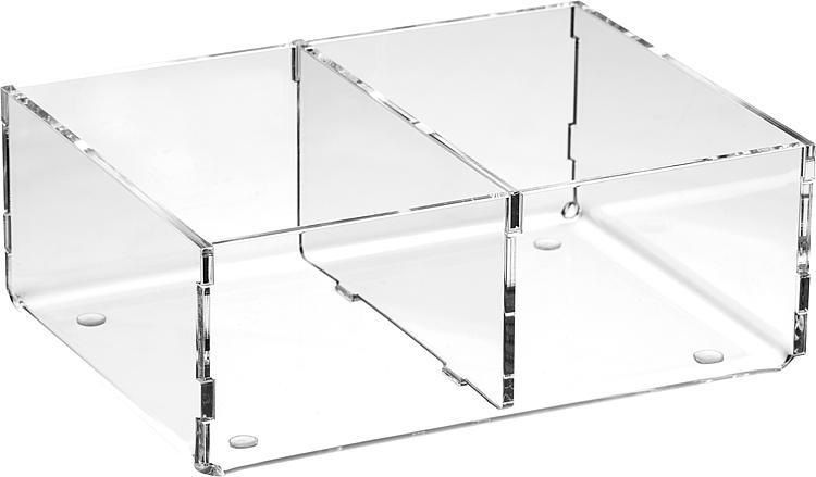 Sortierboxen aus Plexiglas transparent 160x50x120mm