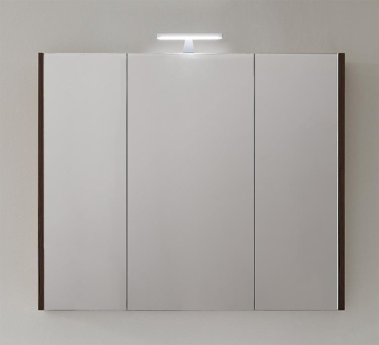 Spiegelschrank mit Beleuchtung Lärche braun 3 Türen 950x750x188mm