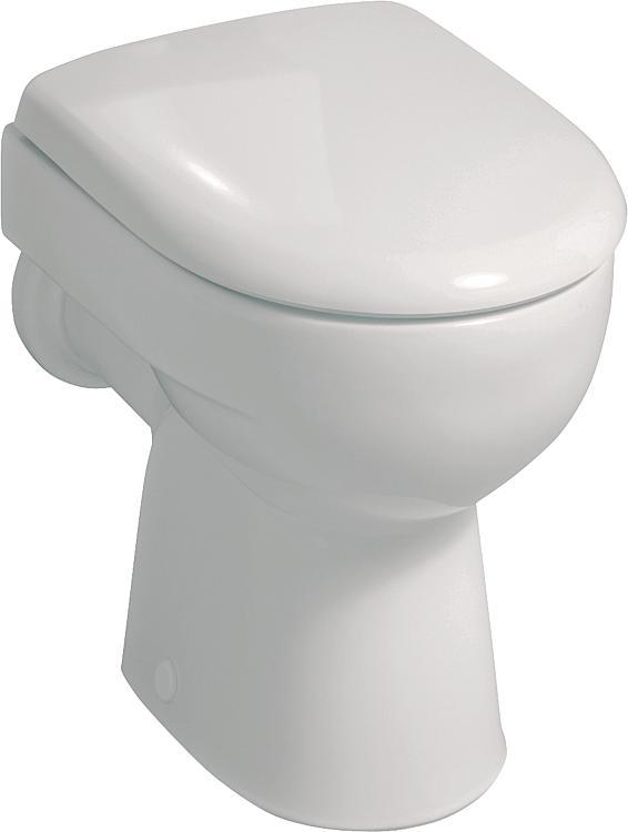 Stand-Tiefspül-WC Geberit Renova weiss,Abgang waagrecht, BxHxT:355x340x540mm