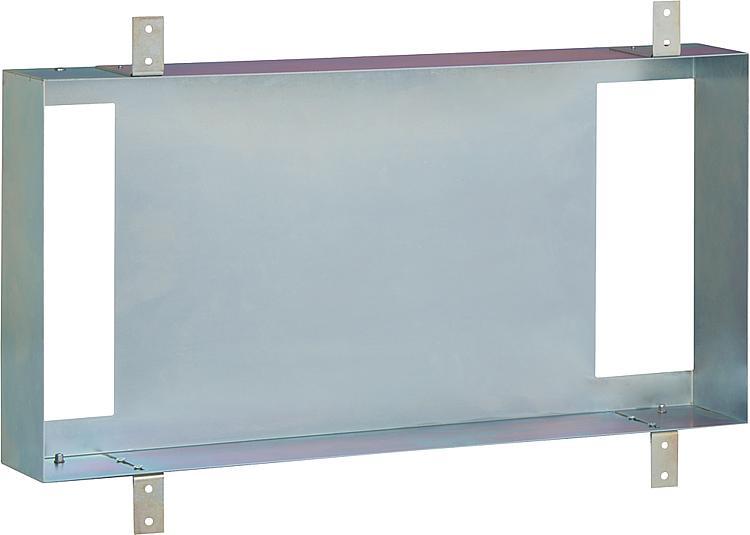 Stahl-Einbaurahmen vertikal oder horizontal montierbar BxHxT:310x600x115mm