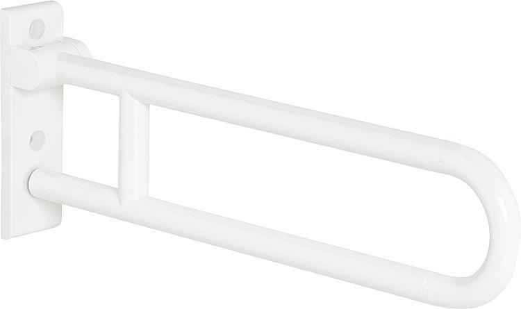 Hewi Stützklappgriff Serie 801 reinweiss, Stahlkern, Länge: 700mm