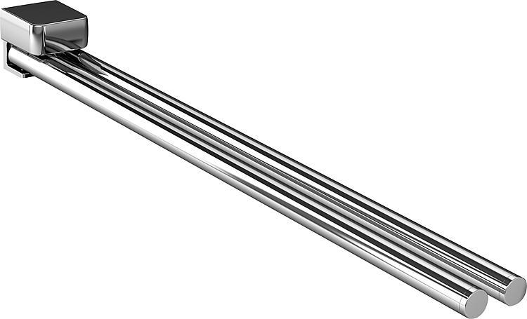 Handtuchhalter emco trend chrom, zweiarmig schwenkbar, 450mm