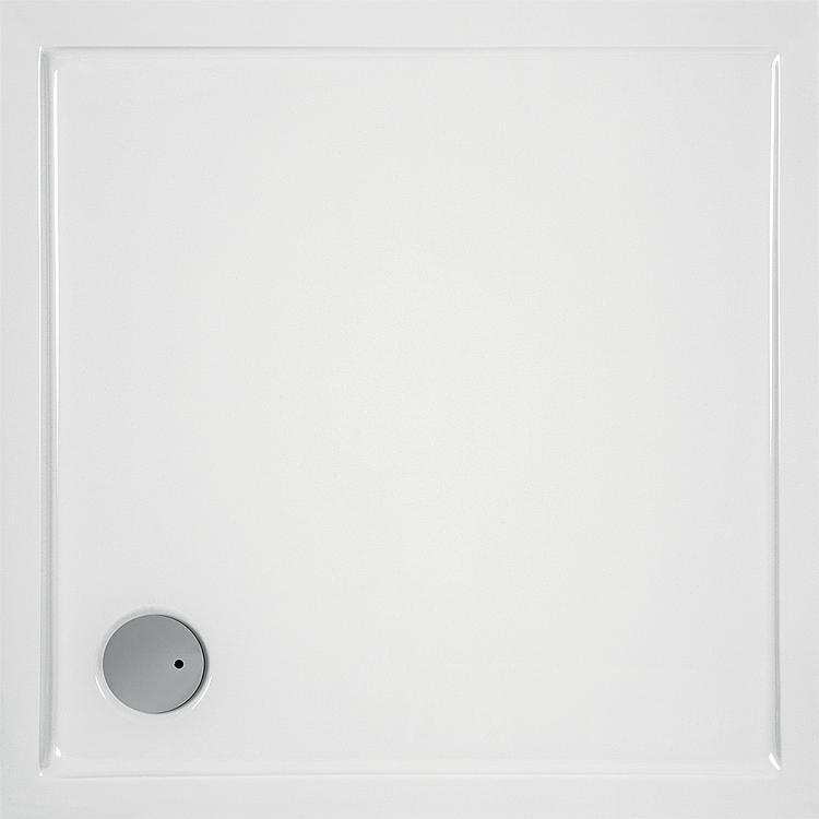 Brausewanne EVREN quadratisch, aus Acryl,1000x1000x55mm, Ablaufloch 90mm
