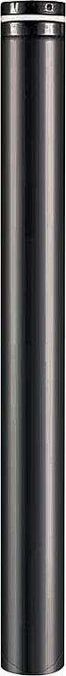 Kaminofen Zubehör Pellet-Rohr Ø 100 mm, L = 500 mm, Schwarz emailliert,