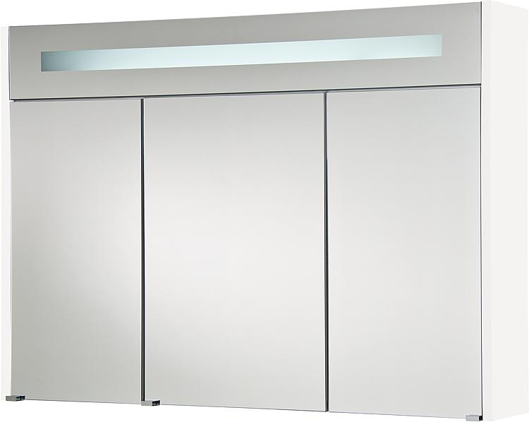 Spiegelschrank m. bel. Blende weiss Hochglanz 3 Türen 1050x750x188mm