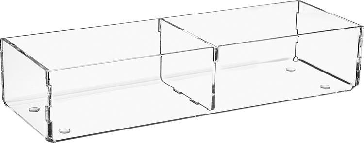 Sortierbox aus Plexiglas transparent 240x80x50mm