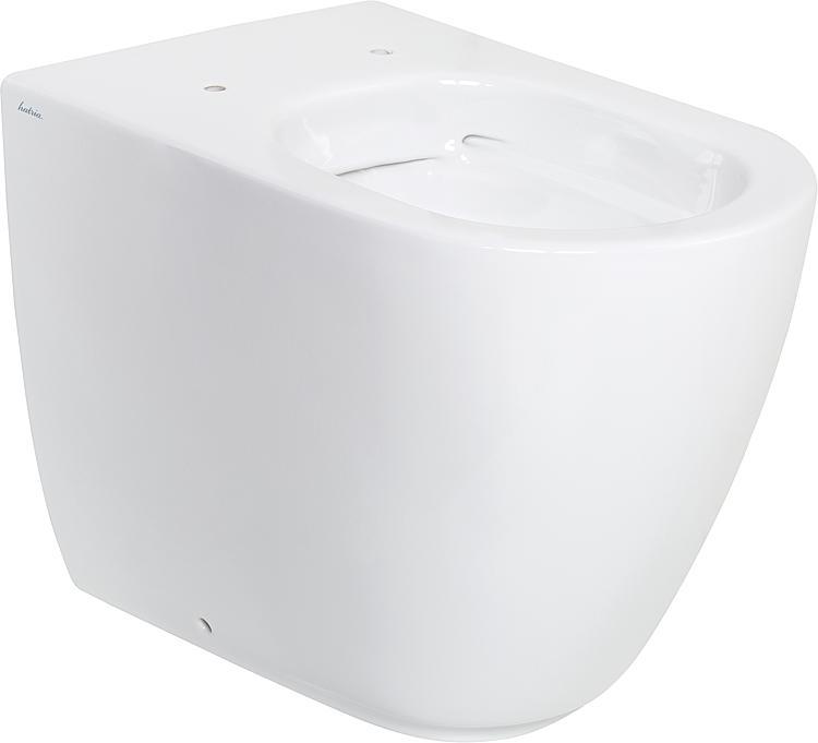 Stand-Tiefspül-WC Fusion BxHxT:355x410x540mm,spülrandlos aus Keramik, weiss
