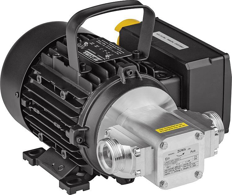 UNISTAR 2000-C, 2800, 230 Volt Impellerpumpe m. Kabel u. Stecker Pumpe max. 90 L/Min., max. 5 bar