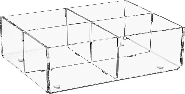 Sortierbox aus Plexiglas transparent 160x120x50mm