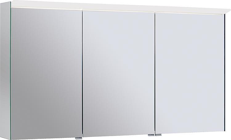 Spiegelschrank Burgbad Suri 1 mit LED-Aufsatzleuchte,3 Türen, Ausf. links, 1206x670x200mm