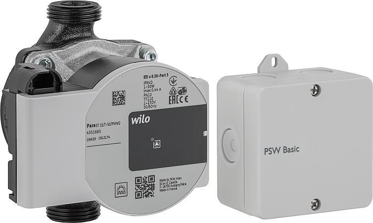 Pumpensignalwandler Resol PSW Basic-Set, Wilo Para ST 15/7.0-PWM