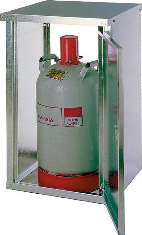 2-Flaschenschrank für 11Kg Flaschen mit Rückwand HxBxT 735x835x400 mm