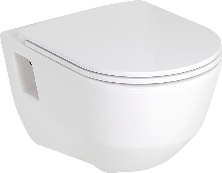 Combi-Pack Laufen PRO Wandtiefspül-WC spülrandlos, mit offenen Befestigungs- Nischen + WC-Sitz softclose, abnehmbar