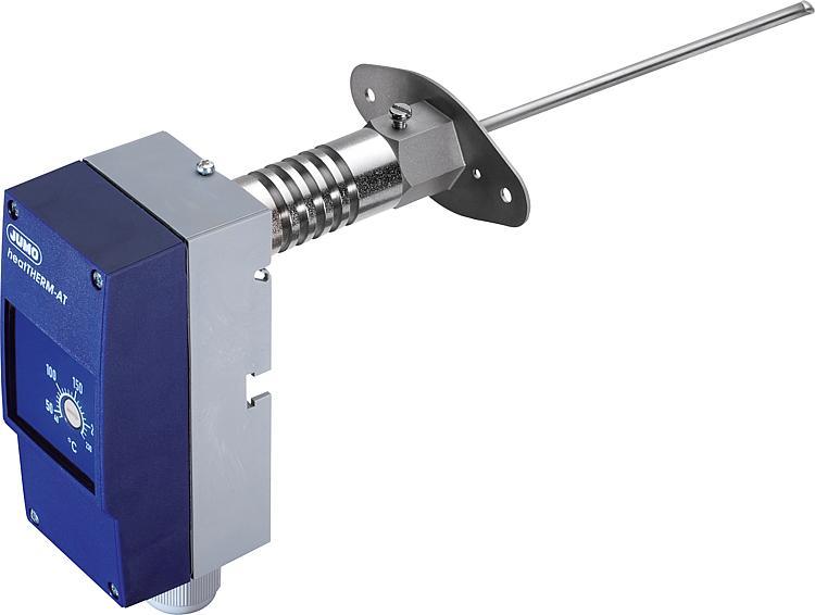Jumo Abgas-Temperaturwächter mit Flanschhülse, Typ 60003390 heatTHERM AT, +20..280°C
