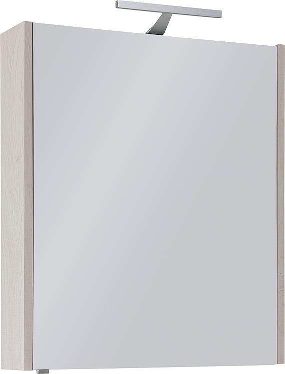Spiegelschrank mit Beleuchtung Eiche hell Dekor 1 Türe 600x750x188mm