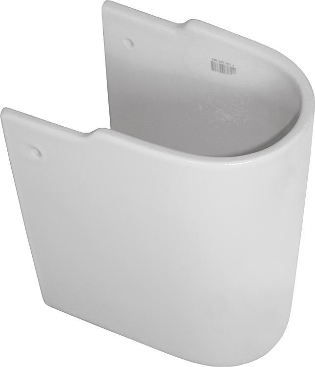 K C 001 WBUK (CONNECT ARC) Halbsäule aus Keramik für WT, weiss, BxHxT: 195x340x280mm